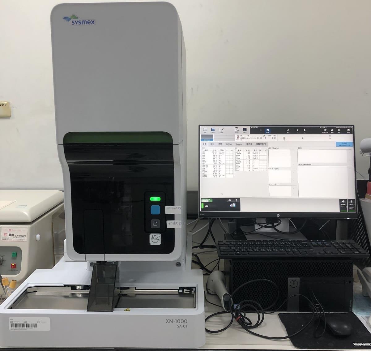 看大圖:SYSMEX XN1000全自動血液分析儀(另開新視窗)